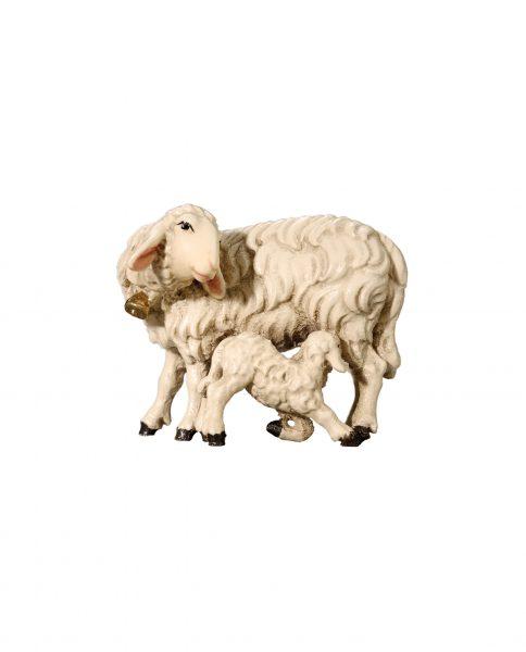 053059 Schaf mit Lamm saugend
