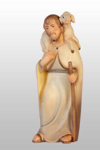 Shepherd with lamb on shoulder 627